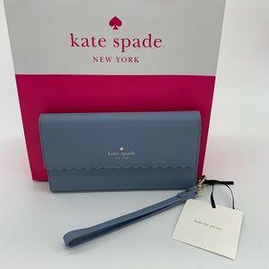Kate Spade Wristlet iPhone 8 Plus Case Blue NWT